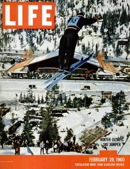 Tamas Sudar Olympic Ski Jumper 29 Feb 1960 Copyright Life Magazine | Life Magazine Color Photo Covers 1937-1970
