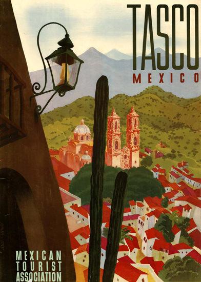 Tasco Mexico 1955 | Vintage Travel Posters 1891-1970