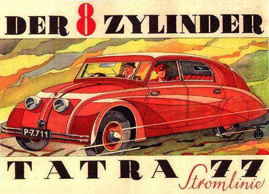 Tatra 77 Stromlinie 8 Zylinder 1934 | Vintage Cars 1891-1970
