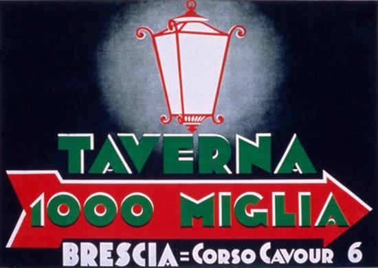 Taverna 1000 Miglia Brescia Italia Tavern Italy | Vintage Ad and Cover Art 1891-1970