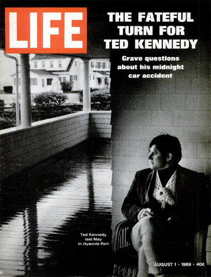 Ted Kennedy Midnight Car Accident 1 Aug 1969 Copyright Life Magazine | Life Magazine BW Photo Covers 1936-1970