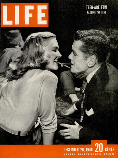 Teen-Age Fun Passing the Ring 20 Dec 1948 Copyright Life Magazine | Life Magazine BW Photo Covers 1936-1970
