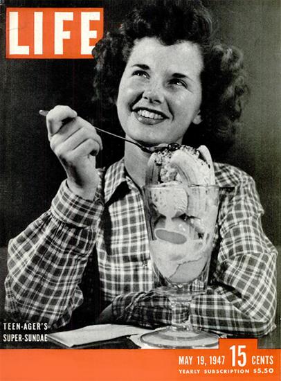 Teen-Agers Super-Sundae 19 May 1947 Copyright Life Magazine | Life Magazine BW Photo Covers 1936-1970