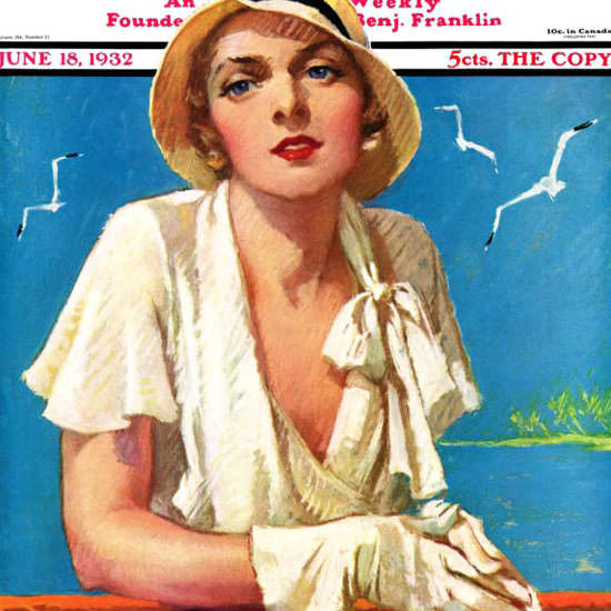Tempest Inman Saturday Evening Post 1932_06_18 Copyright crop | Best of 1930s Ad and Cover Art