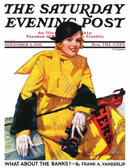 Tempest Inman Saturday Evening Post Football Fan 1932_11_05 | The Saturday Evening Post Graphic Art Covers 1931-1969