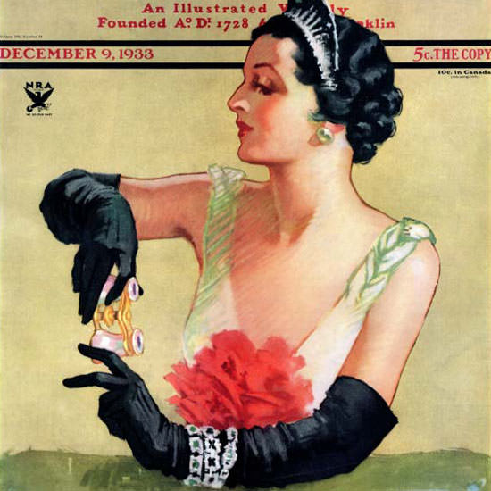 Tempest Inman Saturday Evening Post Opera 1933_12_09 Copyright crop | Best of 1930s Ad and Cover Art