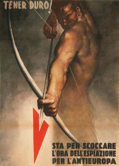 Tener Duro Sta Per Scoccare Italy Italia | Vintage War Propaganda Posters 1891-1970