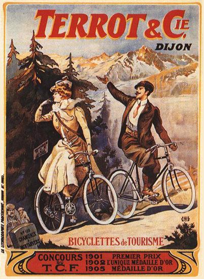 Terrot Cie Dijon Bicyclettes De Tourisme 1905 | Vintage Travel Posters 1891-1970