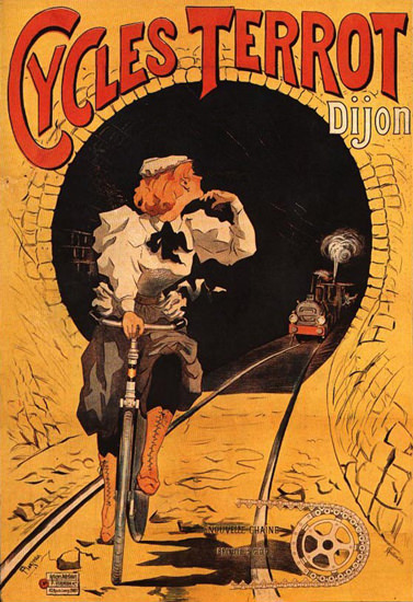 Terrot Cie Dijon Cycles 1900 Plouzeau | Vintage Travel Posters 1891-1970