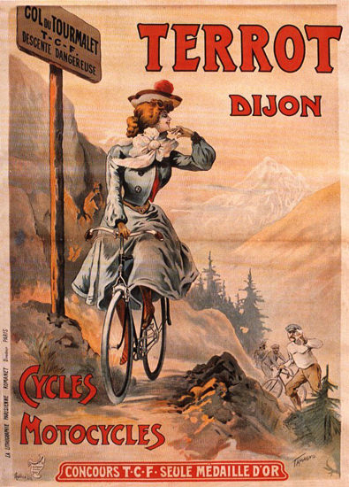 Terrot Cie Dijon Cycles Motorcycles 1903 | Vintage Travel Posters 1891-1970