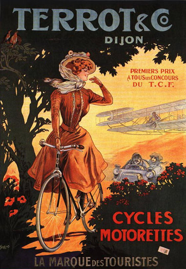 Terrot Cie Dijon Cycles Motorettes 1908 | Sex Appeal Vintage Ads and Covers 1891-1970