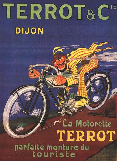Terrot Cie Dijon La Motorette 1913 Dreville | Vintage Travel Posters 1891-1970