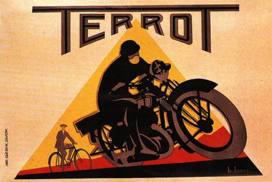 Terrot Cie Dijon Motorcycles 1932 B Lancy | Vintage Travel Posters 1891-1970