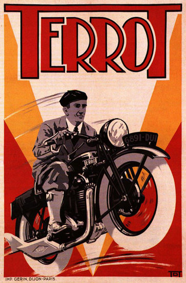 Terrot Cie Dijon Motorcycles 1932 V Dumay | Vintage Travel Posters 1891-1970
