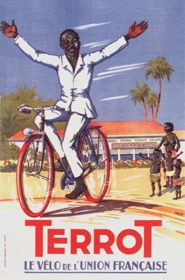 Terrot Le Velo De L Union Francaise 1950 Dumay | Vintage Travel Posters 1891-1970