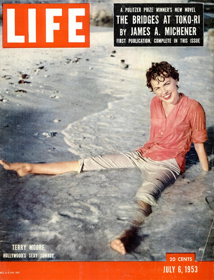 Terry Moore Sexy Tomboy 6 Jul 1953 Copyright Life Magazine | Life Magazine Color Photo Covers 1937-1970