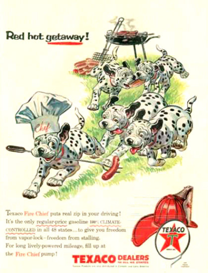 Texaco Red Hot Getwaway 1956 Dalma | Vintage Ad and Cover Art 1891-1970