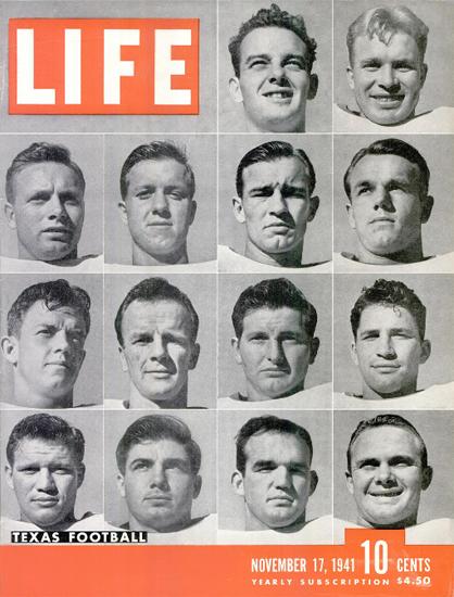 Texas Football 17 Nov 1941 Copyright Life Magazine   Life Magazine BW Photo Covers 1936-1970