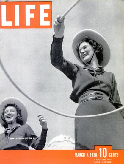 Texas High School Girls 7 Mar 1938 Copyright Life Magazine | Life Magazine BW Photo Covers 1936-1970