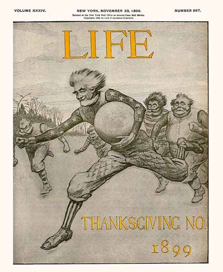 Thanksgiving No Life Humor Magazine 1899-11-23 Copyright | Life Magazine Graphic Art Covers 1891-1936