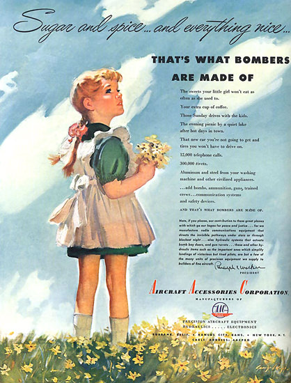Thats What Bombers Are Made Of Girl AAC | Vintage War Propaganda Posters 1891-1970