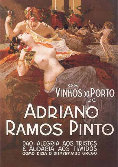 The Bacchanal Nude Leopoldo Metlicovitz Ramos Pinto Porto Sex Appeal | Sex Appeal Vintage Ads and Covers 1891-1970