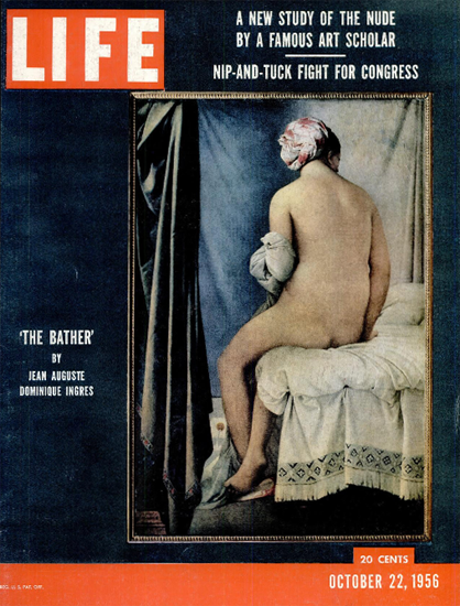 The Bather by Jean Auguste D Ingres 22 Oct 1956 Copyright Life Magazine | Life Magazine Color Photo Covers 1937-1970