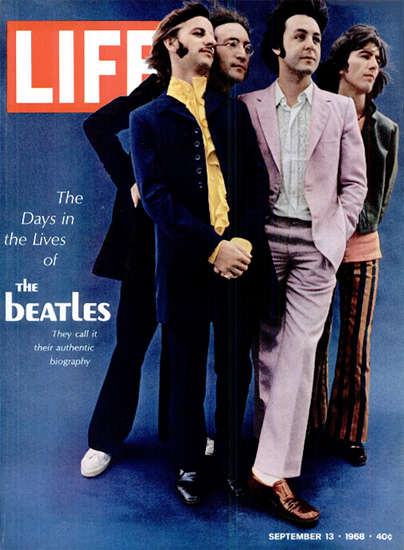 The Beatles Hey Jude Revolution 13 Sep 1968 Copyright Life Magazine | Life Magazine Color Photo Covers 1937-1970