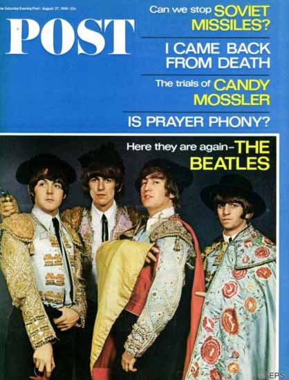 The Beatles Spanish Saturday Evening Post 1966_08_27 | Vintage Ad and Cover Art 1891-1970