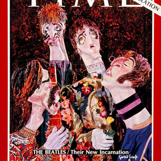 The Beatles Time Magazine 1967-09 crop | Best of Vintage Cover Art 1900-1970