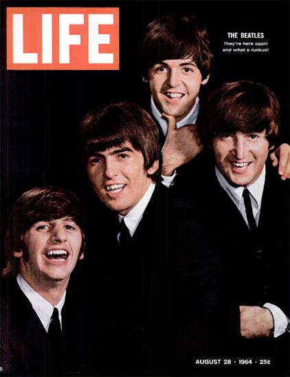 The Beatles Washington New York 28 Aug 1964 Copyright Life Magazine | Life Magazine Color Photo Covers 1937-1970