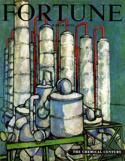 The Chemical Century Fortune Magazine March 1950 Copyright | Fortune Magazine Graphic Art Covers 1930-1959
