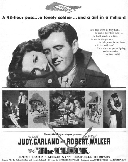 The Clock Judy Garland Robert Walker 1945   Sex Appeal Vintage Ads and Covers 1891-1970