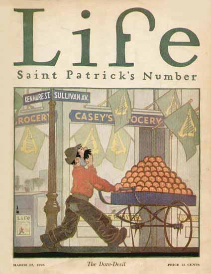 The Dare-Devil Life Humor Magazine 1925-03-12 Copyright | Life Magazine Graphic Art Covers 1891-1936
