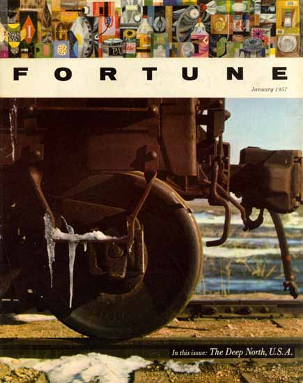 The Deep North USA Fortune Magazine January 1957 Copyright | Fortune Magazine Graphic Art Covers 1930-1959