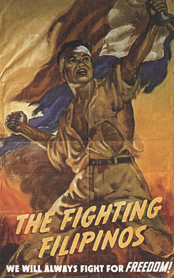 The Fighting Filipinos For Freedom Philippine | Vintage War Propaganda Posters 1891-1970