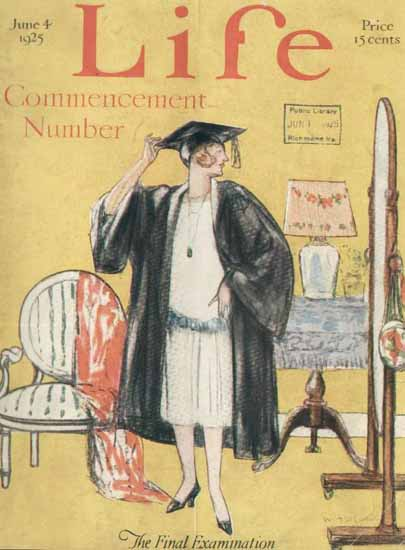 The Final Examination Life Humor Magazine 1925-06-04 Copyright | Life Magazine Graphic Art Covers 1891-1936