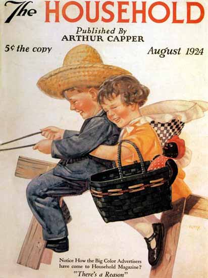 The Household Cover August 1924 George Petty | Vintage Ad and Cover Art 1891-1970
