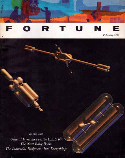 The Industrial Designers Fortune Magazine February 1959 Copyright | Fortune Magazine Graphic Art Covers 1930-1959