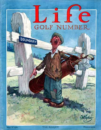 The Killjoy Life Humor Magazine 1926-05-17 Copyright | Life Magazine Graphic Art Covers 1891-1936