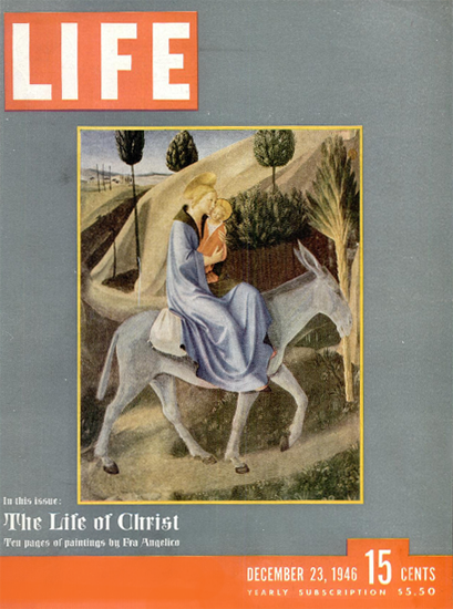 The Life of Christ by Fra Angelico 23 Dec 1946 Copyright Life Magazine | Life Magazine Color Photo Covers 1937-1970
