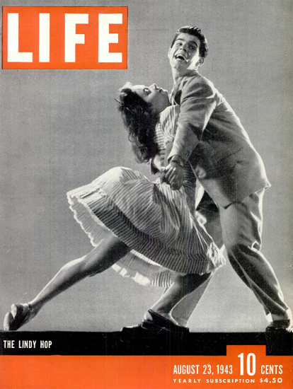The Lindy Hop 23 Aug 1943 Copyright Life Magazine | Life Magazine BW Photo Covers 1936-1970