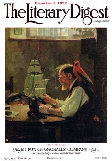 The Literary Digest For a Good Boy 1922 Norman Rockwell | 400 Norman Rockwell Magazine Covers 1913-1963
