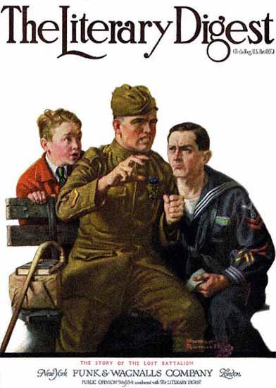 The Literary Digest The Lost Battalion 1919 Norman Rockwell | 400 Norman Rockwell Magazine Covers 1913-1963