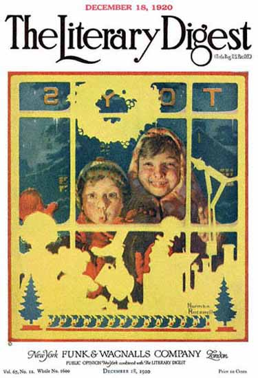 The Literary Digest Toy Store Window 1920 Norman Rockwell   400 Norman Rockwell Magazine Covers 1913-1963