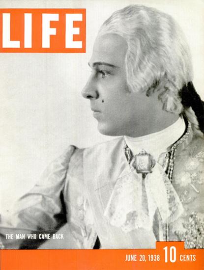 The Man who came back 20 Jun 1938 Copyright Life Magazine   Life Magazine BW Photo Covers 1936-1970