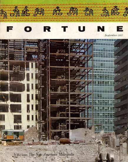 The New American Metropolis Fortune Cocer September 1957 Copyright | Fortune Magazine Graphic Art Covers 1930-1959