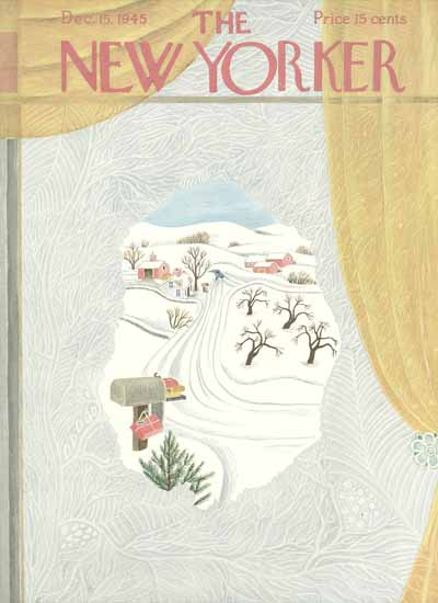 The New Yorker 1945_12_15 Copyright | The New Yorker Graphic Art Covers 1925-1945