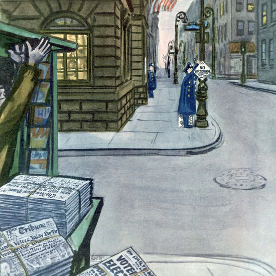 The New Yorker 1952_11_01 Copyright crop | Best of Vintage Cover Art 1900-1970
