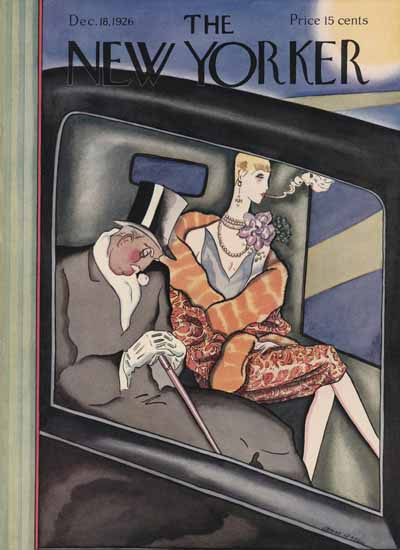 The New Yorker Magazine Cover 1926_12_18 Copyright   The New Yorker Graphic Art Covers 1925-1945